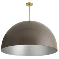 Pascal 1 Light 36 inch Taupe and Antique Brass Pendant Ceiling Light