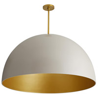 Pascal 1 Light 36 inch Egg Shell and Antique Brass Pendant Ceiling Light