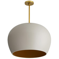 Arteriors 45050 Patton 1 Light 22 inch Egg Shell and Antique Brass Pendant Ceiling Light