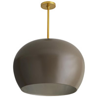 Arteriors 45051 Patton 1 Light 22 inch Taupe and Antique Brass Pendant Ceiling Light