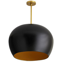 Arteriors 45052 Patton 1 Light 22 inch Matte Black Pendant Ceiling Light