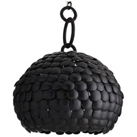 Ramya 3 Light 30 inch Black and Natural Iron Pendant Ceiling Light