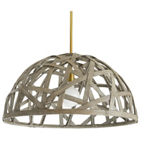 Arteriors 45062 Panama 1 Light 30 inch Light Stonewash and Antique Brass Pendant Ceiling Light