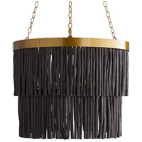 Arteriors 45082 Arya 3 Light 27 inch Antique Brass Pendant Ceiling Light