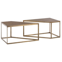 Arteriors 4520 Austin 40 X 20 inch Antique Brass Cocktail Table, Set of 2