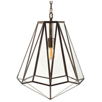 Arteriors 46361 Edmond 1 Light 16 inch Antique Brass Pendant Ceiling Light