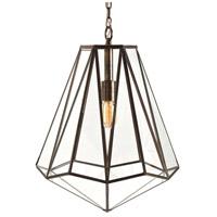 Arteriors 46361 Edmond 1 Light 16 inch Antique Brass Pendant Ceiling Light
