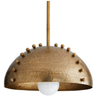 Arteriors 46414 Tidwell 1 Light 19 inch Antique Brass Pendant Ceiling Light