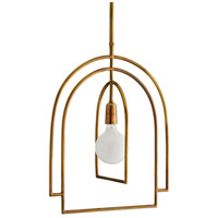 Arteriors 46416 Upton 1 Light 19 inch Antique Brass Pendant Ceiling Light