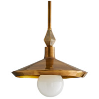 Arteriors 46427 Worley 1 Light 14 inch Vintage Brass Pendant Ceiling Light