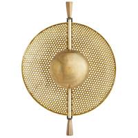 Arteriors 46431 Vallance 1 Light 12 inch Antique Brass Sconce Wall Light