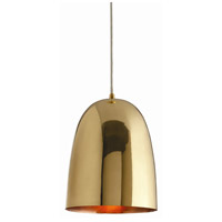 Arteriors 46603 Savoy 1 Light 10 inch Polished Brass and Copper Pendant Ceiling Light