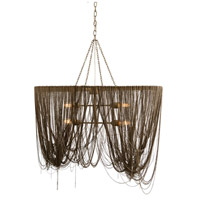 Arteriors 46643 Layla 4 Light 36 inch Antique Brass and Nickel Pendant Ceiling Light