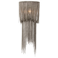 Arteriors 46691 Yale 1 Light 10 inch Antique Nickel and Antique Mirror Wall Sconce Wall Light, Small