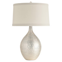 Walter 27 inch 150 watt Distressed Silver and Nickel Table Lamp Portable Light