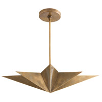 Arteriors 46821 Rex 4 Light 19 inch Antique Brass Pendant Ceiling Light