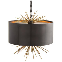 Patton 3 Light 20 inch English Bronze and Brass Pendant Ceiling Light