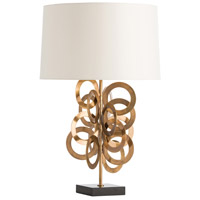 Shelby 30 inch Vintage Brass/Black Marble Table Lamp Portable Light