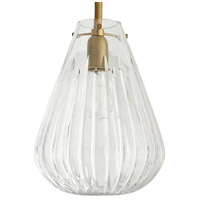 Arteriors 46989 Romo 1 Light 10 inch Antique Brass Pendant Ceiling Light