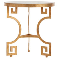 Bonnie Gold Leafed Iron/Chiseled White Marble Side Table Home Decor