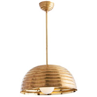 Arteriors 48609 Cullom 1 Light 18 inch Antique Brass/Polished Brass Pendant Ceiling Light