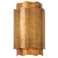 Bryce 2 Light 8 inch Hammered Vintage Brass Sconce Wall Light