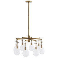 Sabine 8 Light 31 inch Antique Brass Chandelier Ceiling Light