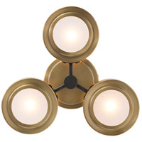 Jalen 3 Light 15 inch Antique Brass Sconce Wall Light