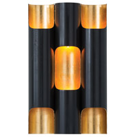 Wolfe 6 Light 9 inch Oil Rubbed Bronze/Gold Leafed Iron Sconce Wall Light
