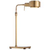 Elmer 40 watt Antique Brass Desk Lamp Portable Light, Rectangle