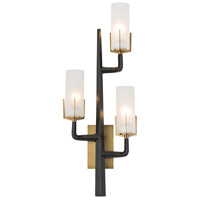 Griffin 3 Light 14 inch Antique Brass Sconce Wall Light