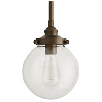 Reeves 1 Light 8 inch Aged Brass Outdoor Pendant, Small