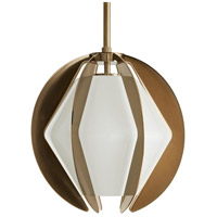 Arteriors 49233 Puzol 1 Light 13 inch Heritage Brass Pendant Ceiling Light