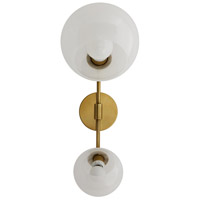 Sampson 2 Light 9 inch Antique Brass Sconce Wall Light