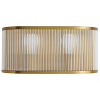 Arteriors 49241 Schuyler 2 Light 15 inch Antique Brass Sconce Wall Light
