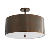 Arteriors 49267 Tarbell 3 Light 20 inch Heritage Brass Semi-Flush Mount Ceiling Light
