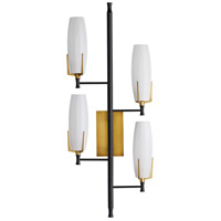 Arteriors 49273 Keifer 4 Light 16 inch Antique Brass Sconce Wall Light, Left