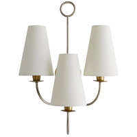 Arteriors 49274 Toya 3 Light 17 inch Vintage Silver Sconce Wall Light Essential Lighting