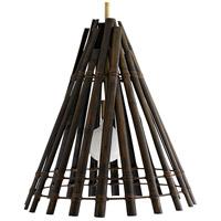 Arteriors 49297 Terek 1 Light 22 inch Antique Black Pendant Ceiling Light