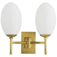 Arteriors 49640 Adler 2 Light 15 inch Antique Brass Sconce Wall Light