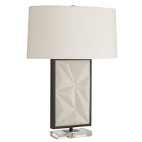 Arteriors 49689-431 Delta 28 inch 150.00 watt White and Bronze with Clear Table Lamp Portable Light