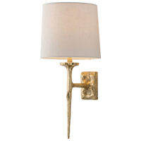 Franz 1 Light 9 inch Matte Brass Sconce Wall Light, Round