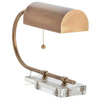 Dexter 12 inch 60 watt Antique Brass Desk Lamp Portable Light, Rectangle