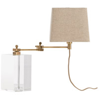 Davenport 18 inch 60 watt Antique Brass Desk Lamp Portable Light, Square
