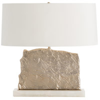 Damian 28 inch 150 watt Brushed Brass/White Onyx Table Lamp Portable Light, Oval