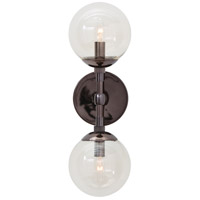 Polaris 2 Light 6 inch Brown Nickel Wall Sconce Wall Light