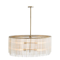 Royalton 4 Light 34 inch Antique Brass Chandelier Ceiling Light, Oval
