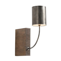 Flynn 1 Light 5 inch Aged Iron and Weathered Oak Wall Sconce Wall Light