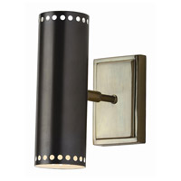 Pruitt 40 watt Dark Bronze and Vintage Brass Adjustable Wall Sconce Wall Light
