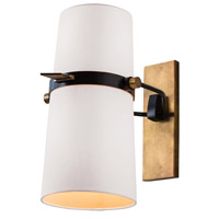 Yasmin 60 watt Antique Brass and Matte Black Adjustable Wall Sconce Wall Light